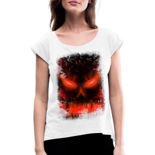 demon skull - T-shirt à manches retroussées Femme