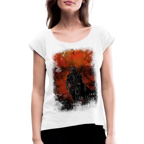 mandalorian - T-shirt à manches retroussées Femme