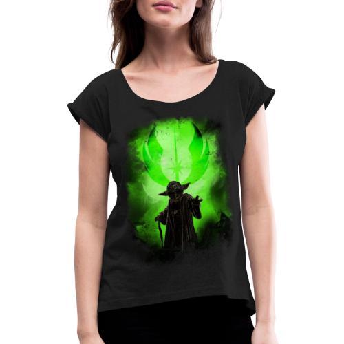 yoda - T-shirt à manches retroussées Femme
