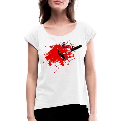 Tatort - Frauen T-Shirt mit gerollten Ärmeln