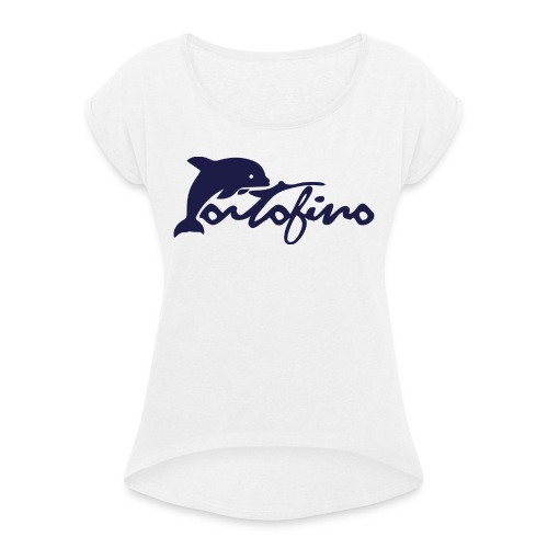 portofino 2019 NAVY - Women's T-Shirt with rolled up sleeves