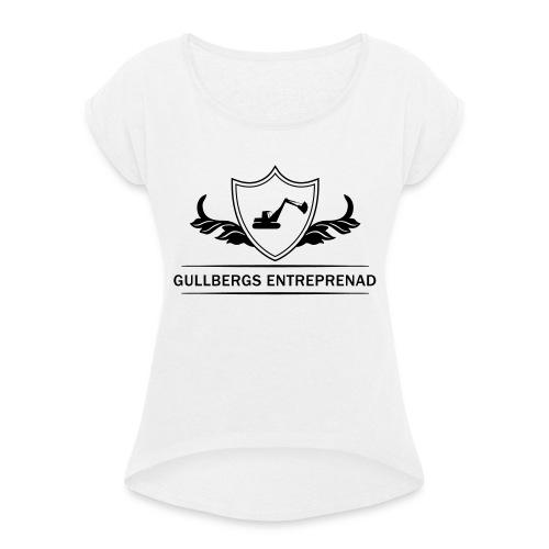 hejhej - T-shirt med upprullade ärmar dam
