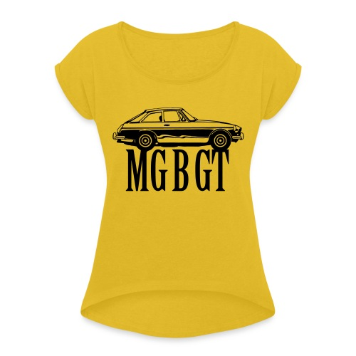 MG MGB GT - Autonaut.com - Women's T-Shirt with rolled up sleeves