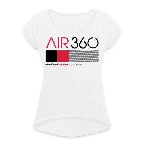 Air360 - Camiseta con manga enrollada mujer