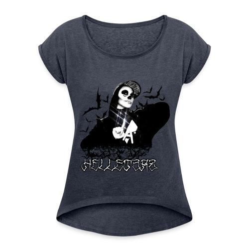 HELLSTARZ Lillie V - T-shirt à manches retroussées Femme