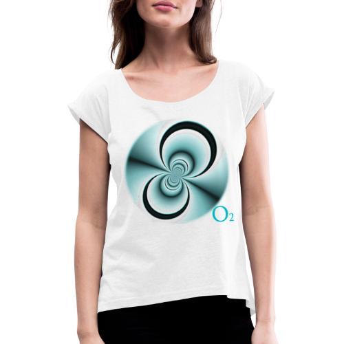 O2 djf - Camiseta con manga enrollada mujer