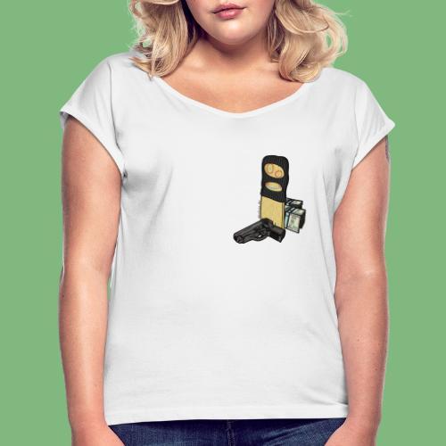 Tablon - Camiseta con manga enrollada mujer