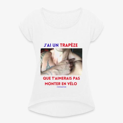 Ajouter un sous titre - T-shirt à manches retroussées Femme