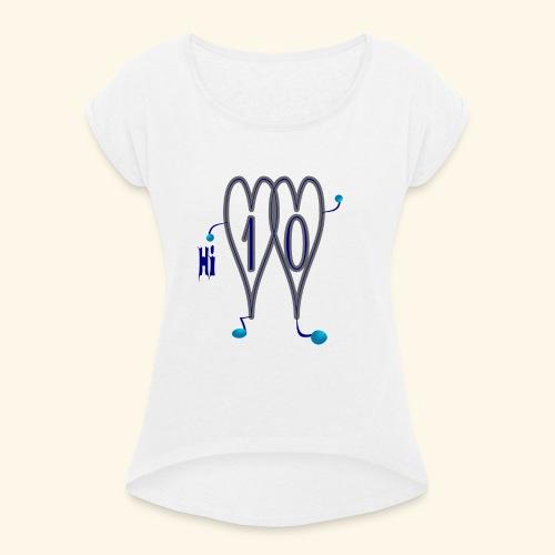 Design t-shirts online t-shirt hii - T-shirt à manches retroussées Femme