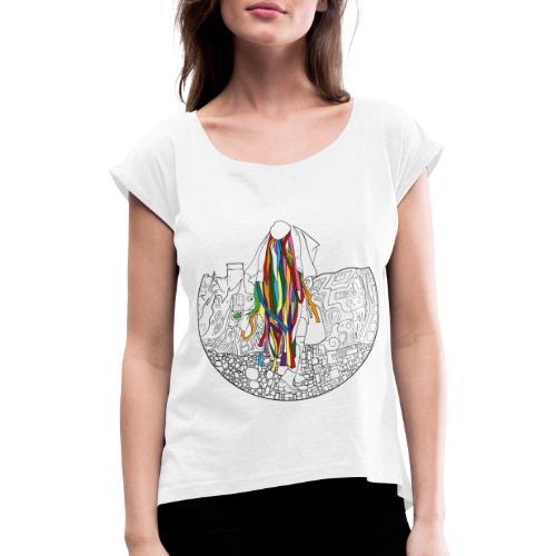 trimuccaPSI - Maglietta da donna con risvolti