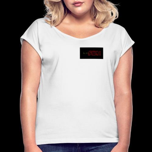 swai red box logo - Frauen T-Shirt mit gerollten Ärmeln