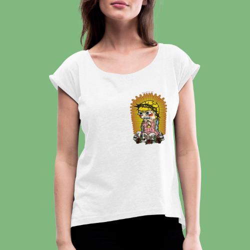 Mandy - Camiseta con manga enrollada mujer