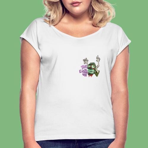 Justo Bolsa - Camiseta con manga enrollada mujer