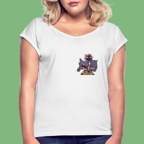 Gastly Haunter y Gengar4 - Camiseta con manga enrollada mujer