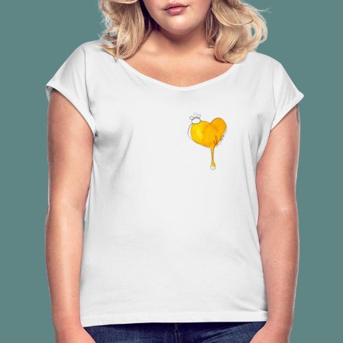 Heart Bee LOVE - T-shirt à manches retroussées Femme