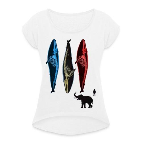 Motiv neu 2017-4 Kopie - Frauen T-Shirt mit gerollten Ärmeln
