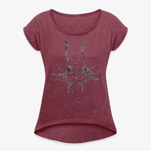 crazy rabbit - Maglietta da donna con risvolti