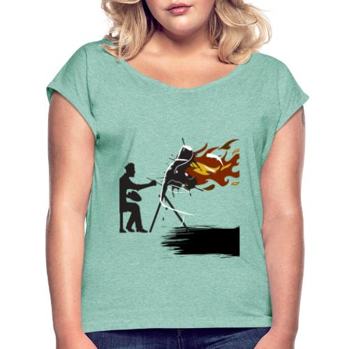 Official Canvas Short Film Poster - Women's T-Shirt with rolled up sleeves