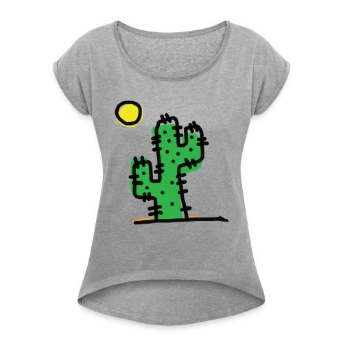 Cactus single - Maglietta da donna con risvolti
