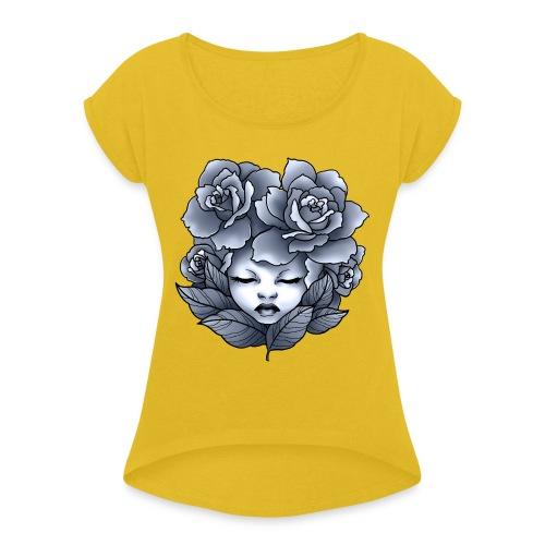 Flower Head - T-shirt à manches retroussées Femme
