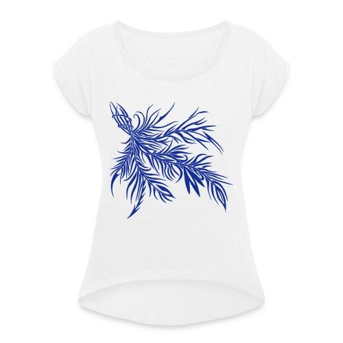 fireleaf 2018 1 - Frauen T-Shirt mit gerollten Ärmeln