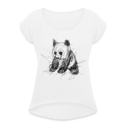 Scribblepanda - Women's T-Shirt with rolled up sleeves