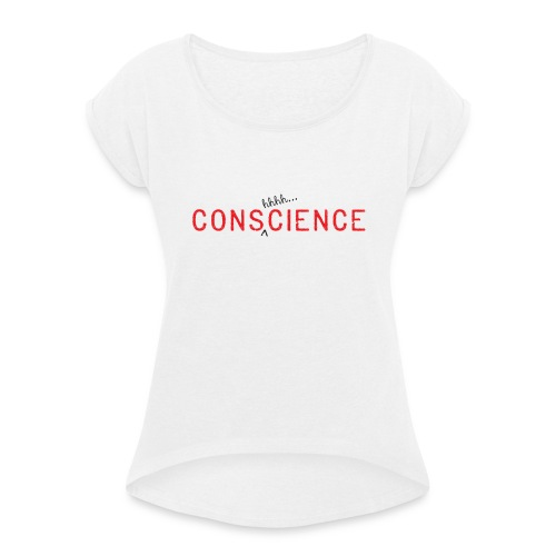 TeeSpread1-Consh-01 - Women's T-Shirt with rolled up sleeves