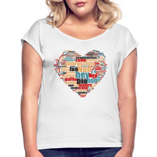 chiaro di luna - Maglietta da donna con risvolti