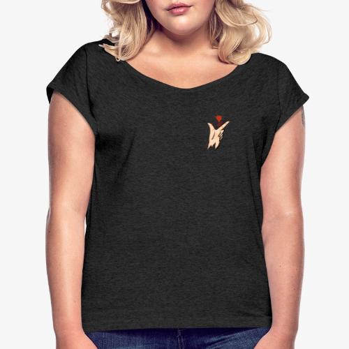 love sk8 - T-shirt à manches retroussées Femme