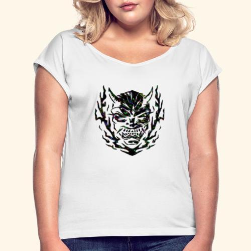 devil - T-shirt à manches retroussées Femme