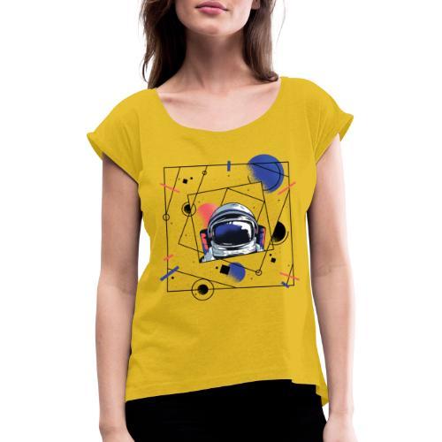 Beste Astronaut Weltraum Designs - Frauen T-Shirt mit gerollten Ärmeln