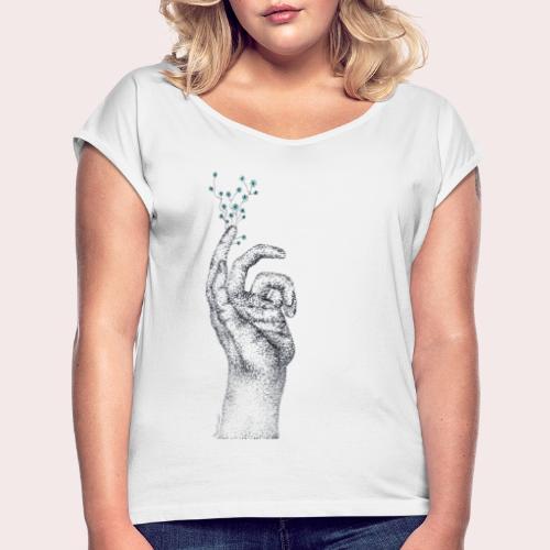 Skammen är inte din - T-shirt med upprullade ärmar dam