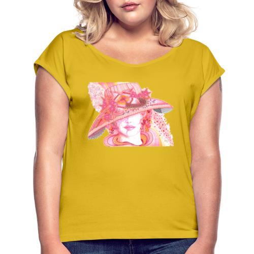 Lily - T-shirt med upprullade ärmar dam