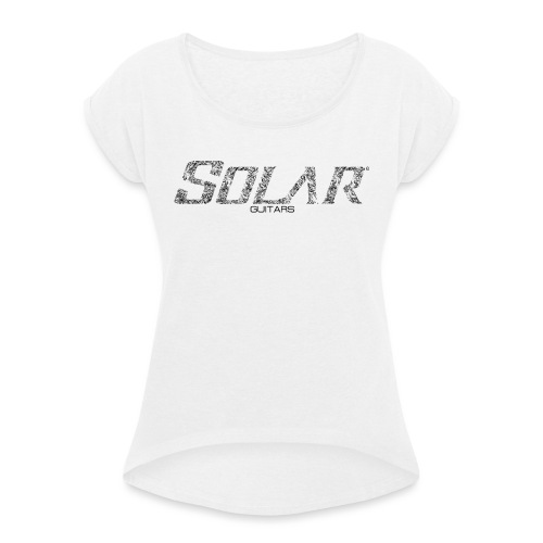 Solar Guitars Textured Black - Women's T-Shirt with rolled up sleeves