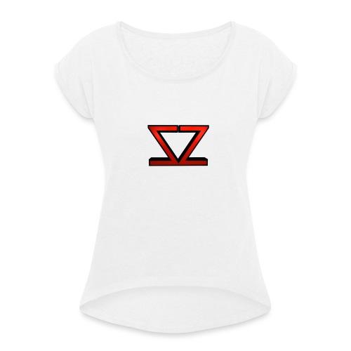 ZZ Logo - Frauen T-Shirt mit gerollten Ärmeln