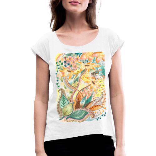 Höststorm - T-shirt med upprullade ärmar dam