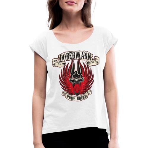 Dobermann Pure B - Women's T-Shirt with rolled up sleeves