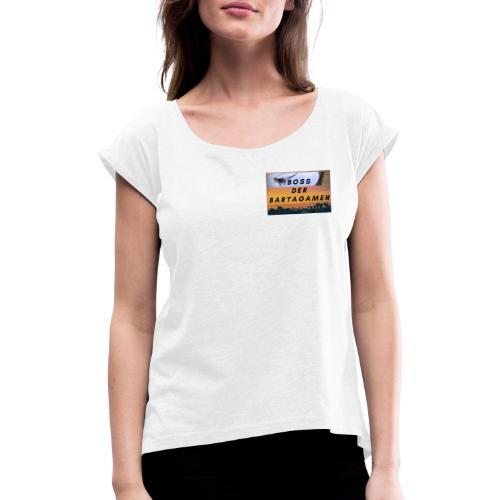 Boss der Bartagamen Brust Design + Accesoires - Frauen T-Shirt mit gerollten Ärmeln