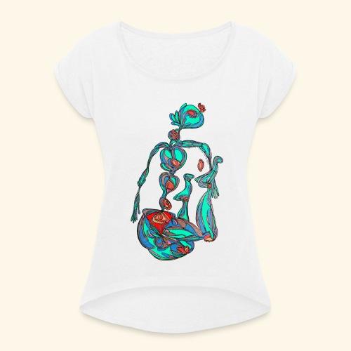 Fontaine - T-shirt à manches retroussées Femme
