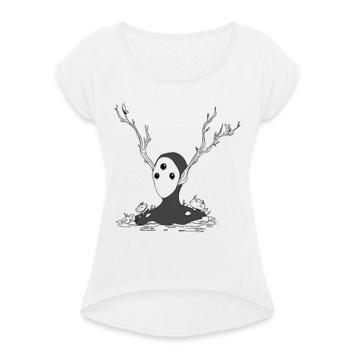Spirit - Vrouwen T-shirt met opgerolde mouwen