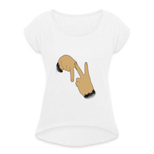 Double N - T-shirt à manches retroussées Femme