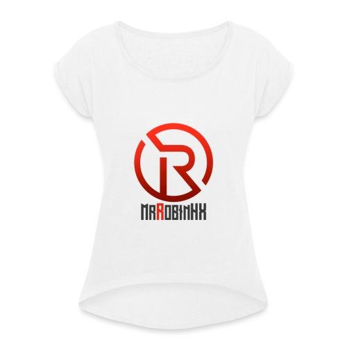 MrRobinhx - T-skjorte med rulleermer for kvinner