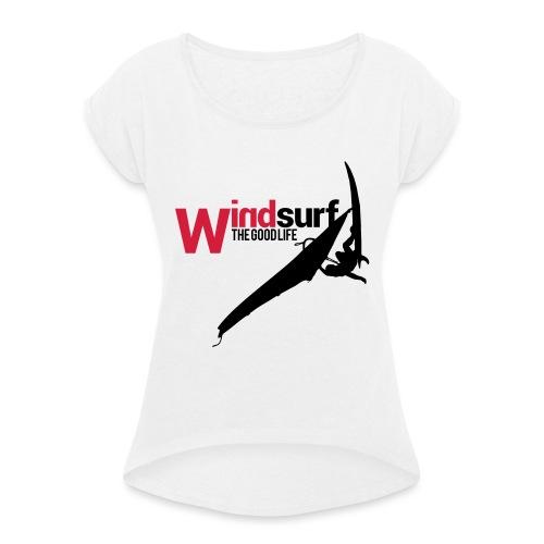 Windsurf - Maglietta da donna con risvolti