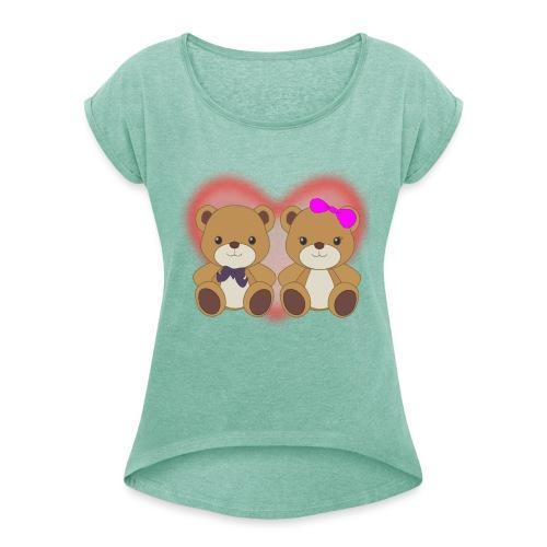 Orsetti con cuore - Maglietta da donna con risvolti