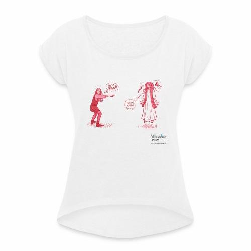 She's a witch! - T-shirt à manches retroussées Femme