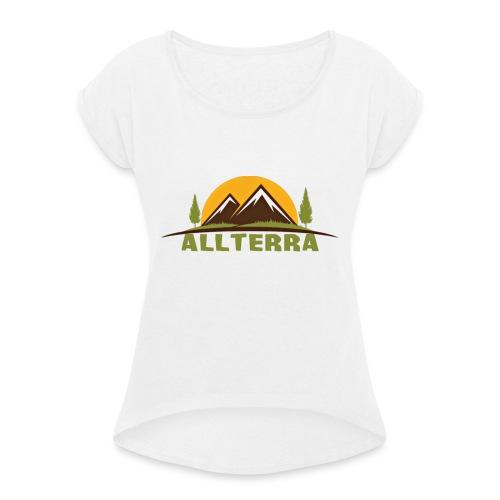 camiseta básica Alterra - Camiseta con manga enrollada mujer