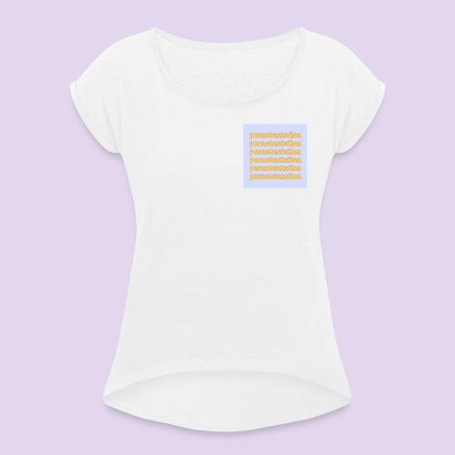 PORNOTENTATION® - Maglietta da donna con risvolti