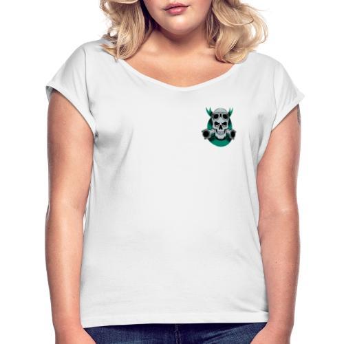 crane motard vintage ruban 3605 83 - T-shirt à manches retroussées Femme