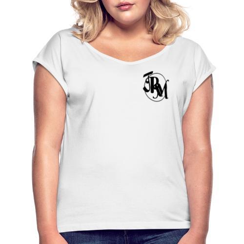 JRM Luxury - Frauen T-Shirt mit gerollten Ärmeln
