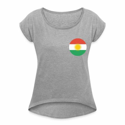 Kurdish tshirt - T-shirt med upprullade ärmar dam